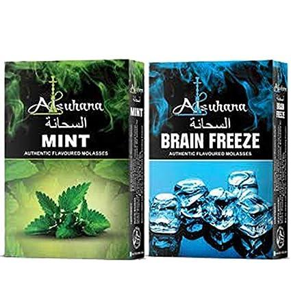 SCORIA Alsuhana Mint & Brain Freeze Combo Premium Quality Assorted Hookah Flavour/Molasses Flavours