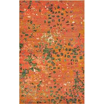 Amazon Com Modern Abstract Rugs Orange 4 11 X 8 Ft