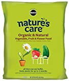 Miracle-Gro 100132 Nature's Care Organic and Natural Vegetable, Fruit and Flower Food (4 Pack), 8 lb