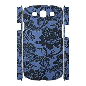 Blue Flowers Customized 3D Cover Case for Samsung Galaxy S3 I9300,custom phone case ygtg613009