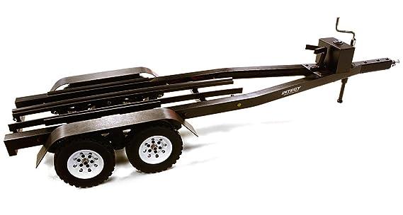 Integy RC modelo Hop-ups C27640negro de aleación mecanizada doble eje remolque de barco (Toy) Kit para 1/10 escala RC 670 x 190 x 160 mm: Amazon.es: ...