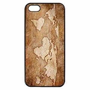 Art Print World Map Stylish Photo Printed Plastic Rubber Sillicone Customized iPhone 4 Case, iPhone 4S Case Cover, Protection Quique Cover, Perfect fit, Show your own personalized phone Case for iphone 4 & iphone 4S