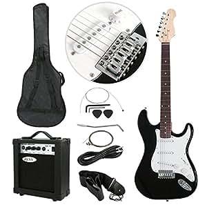 polar aurora full size black electric guitar 10 w amp gig bag case guitar. Black Bedroom Furniture Sets. Home Design Ideas