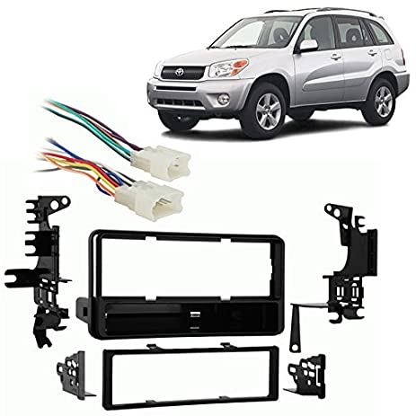 511bHRsQ0IL._SY463_ amazon com fits toyota rav4 2001 2005 single din stereo harness Metra Wiring Harness Diagram at webbmarketing.co