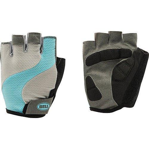 Bell Women's Half Finger Glove Adelle 500, LXL, Grey/Teal