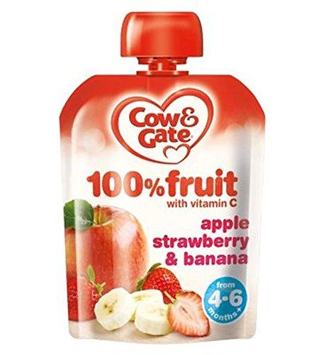 Cow & Gate Manzana, Fresa Y Plátano 100% De Frutas Con Vitamina C De