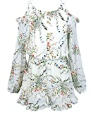 Hannah Banana Truly Me, Big Girls Tween Stunning Romper (Many Options), 7-16 (10, Ivory Floral)