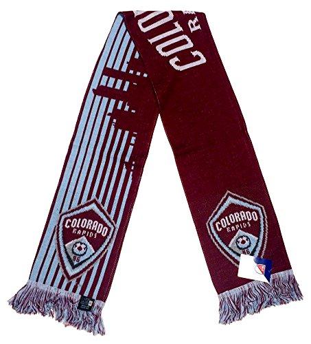 fan products of MLS Colorado Rapids Denver Skyline Stripes Scarf, Burgundy, One Size