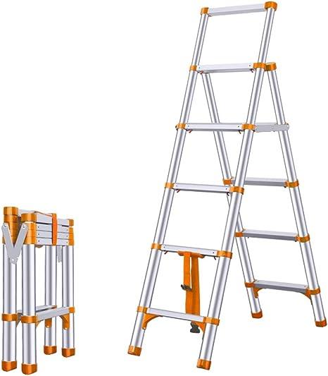 Escaleras de Mano Escaleras de Aluminio de extensión Naranja, Escalera de Escalera Antideslizante Plegable de Alta Resistencia de 5 escalones, Home Loft DIY Multiuso - Carga 150 kg: Amazon.es: Hogar