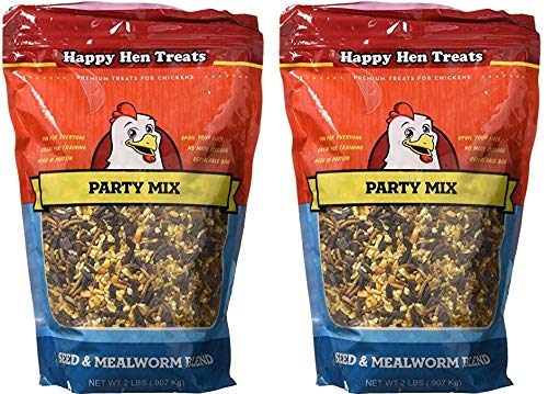 Happy Hen Treats Party Mix Seed And Mealworm, 2 Lb (2.(Pack))