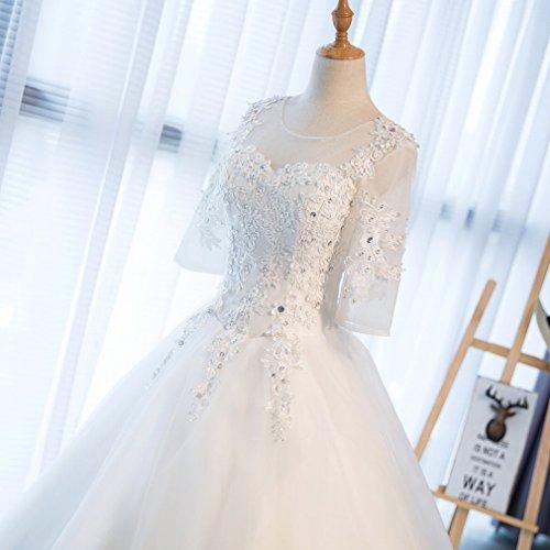 Inverno e Vestito Sposa Bianca un Manica Abito Grande Spalla Sposa da DIDIDD da Sposa Sposa Parola da Autunno L in Abito 7wPwqY