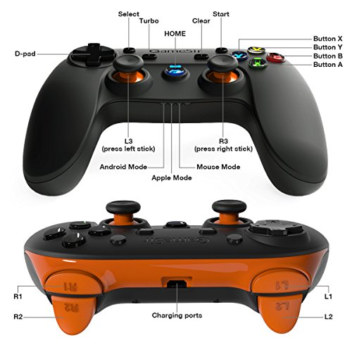511bJ4zFihL - GameSir G3s 2.4GHz Wireless Bluetooth Gamepad Controller for Android TV BOX Smartphone Tablet PC (Orange)