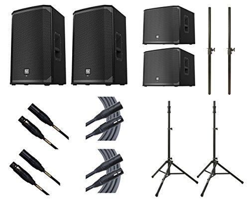 2x Electro-Voice EKX-12P + 2x EV EXK-15SP + 2x Ultimate TS-100B + Mogami Cables + Poles by EV