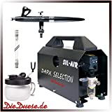 DieDuese.de Airbrush Komplettset Dark Selection Evolution AL plus 2in1 Sil-Air 20A