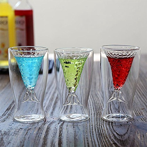 Crystal Mermaid Creative Cup Glass Mug Novelty Vodka Shot Drinking Bar Party - Best Detroit In Malls