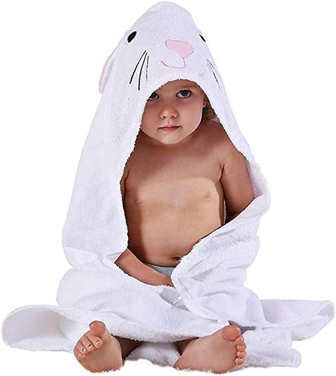 Casa Toalla de bebé con Capucha - Toalla de Baño para Bebé Algodón Suave Encapuchado Toalla con Patrón Animale Bañar a tu Bebé, Talla 90 x 90cm: Amazon.es: Ropa y accesorios