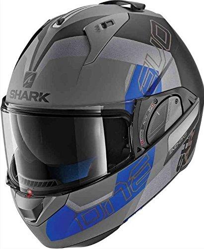 Shark シャーク Evo-One 2 Slasher Mat Helmet 2018モデル フルフェイスジェットヘルメット グレイ/イエロー L(59~60cm) B07CMMW89Y   L(59~60cm)