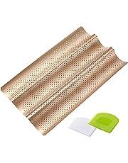 COSYLAND Bagette-bakplåt med non-stick-beläggning 3 baggetter