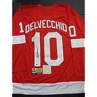 $99 » Alex Delvecchio Detroit Red Wings Autographed Retro Replica Jersey