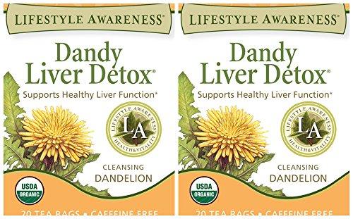 Lifestyle Awareness Dandy Liver Detox Herbal Tea 20 Tea Bags Pack of 2