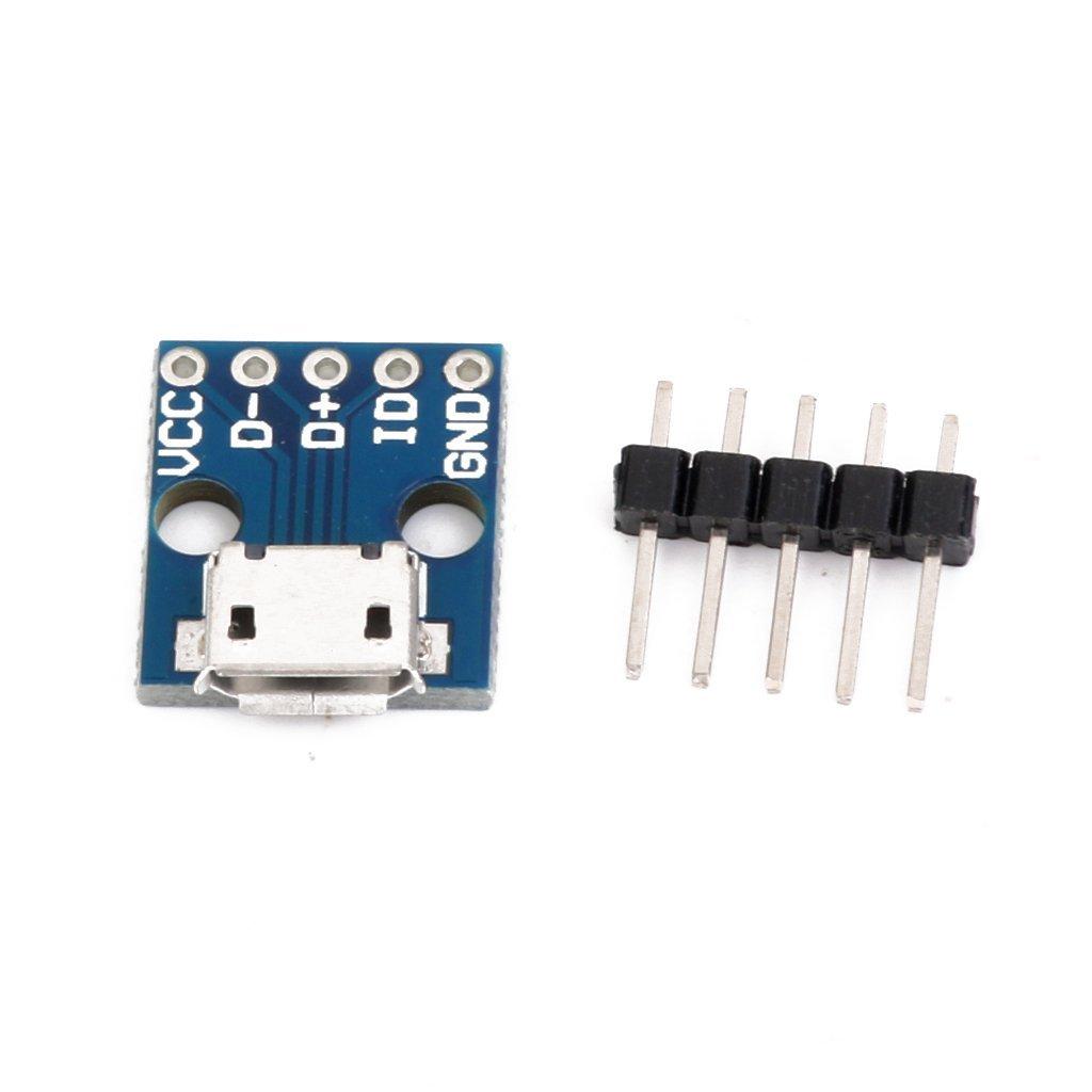 Tcplyn Premium Quality USB Micro-B Breakout Board Power Charging Converter Module