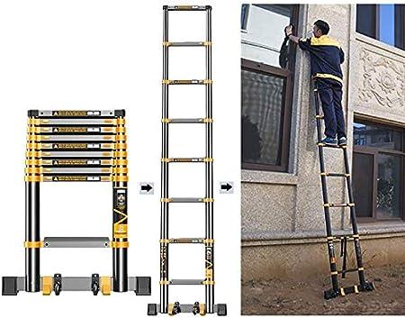 Escalera plegable de extensión telescópica de 3.5M / 11.5ft con pies antideslizantes, Escaleras telescópicas rectas portátiles de aluminio de alta resistencia, Carga 330 Lb (Tamaño: 3.5M / 11.5ft): Amazon.es: Hogar