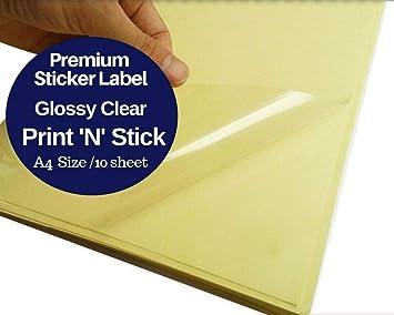 Amazon.com: Papel adhesivo transparente, tamaño A4, en ...