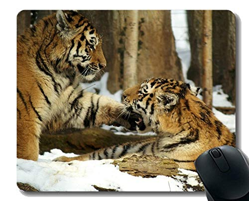 Mouse Pad Anti-Slip, Lifelike Tiger Mouse Pad with Stitched Edge