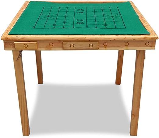 LULUVicky Mahjong Mesa Plegable Mahjong Mesa Mesa Mahjong Mesa ...