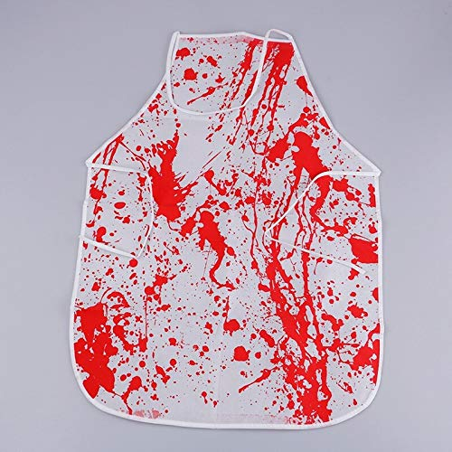 Halloween Butcher - Halloween Costume Horror Bloody Apron Butchers Chef Unisex Cook Adult Novelty Fancy Dress Party - Dead Cook Anime Apron Hand Latex Women Mask Kitchen Girl Bloody Bloc]()
