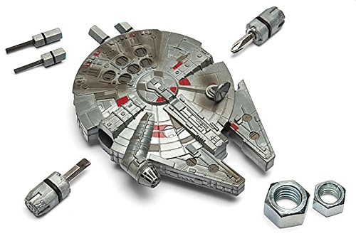 ThinkGeek Star Wars Millennium Falcon Exclusive Multi-Tool Kit - 4 Hex Keys, 2 Screwdrivers, Adjustable Wrench