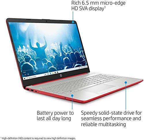 """HP 15.6"""" HD Micro-Edge Laptop, Intel Pentium Gold 6405U up to 2.40 GHz, 16GB RAM, 256GB SSD, Webcam, USB Type-C, Ethernet, HDMI, Mytrix HDMI Cable, Win 10 Home S"""