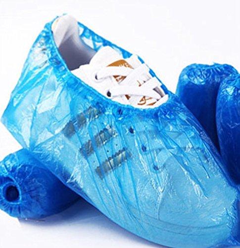 YMWLKE 100 Teile//Satz Schuhabdeckung Einweg Schuhabdeckung Innen Anti-dreckigen Schuhabdeckung Liefert by Blau