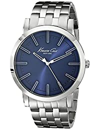 Kenneth Cole Men's Classic KC9234 Silver Stainless-Steel Quartz Watch