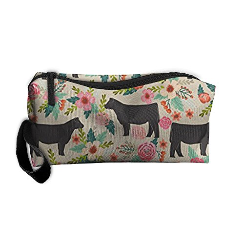 Cananhjs New Show Steer Cows Farm Barn Florals Designhome Portable Hanging Toiletry Travel Bag &Cosmetic Bag Pencil Case Travel
