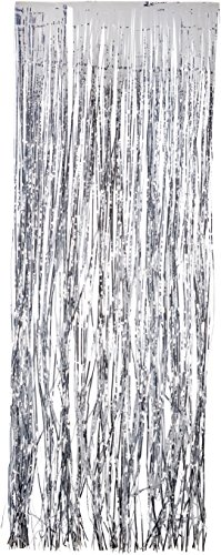 Silver Tinsel Fringe Curtain order