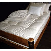 Holy Lamb Organics Quilted Ultimate Wool Mattress Topper - TWIN