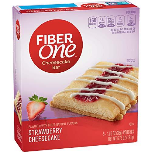 Fiber One Cheesecake Bar, Strawberry, 5 Count