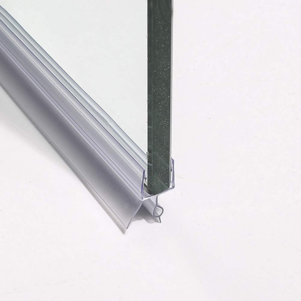 HUAA Junta para mampara de Ducha,Tiras de Gomas Sellados de Baño,Pantalla Sello,Plástico Mampara Ducham,para Vidrio Recto o Curvado Junta Mampara Ducha para Usar a el Cristal de 8-12mm: Amazon.es: Hogar
