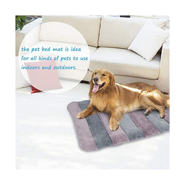 JoicyCo Large Dog Bed Crate Pad 42 in Mat 100% Washable Anti-Slip Dog Matress Kennel Pads 6