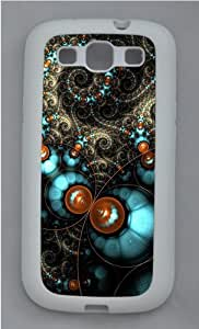 Samsung Galaxy S3 Case Cover - Fractal Circles Cool Design Samsung Galaxy S3 Case - TPU - White