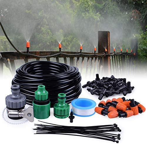 - MIXC 1/4-inch Mist Irrigation Kits Accessories Misting Cooling System with 50ft 1/4