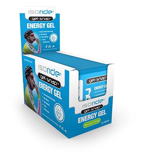 ISORIDE® Gel-Snap Energy Sports Nutrition Gel Lemon-Lime 24 Pack