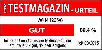W6 N 1235/61 - Máquina de Coser (10 años de garantía): Amazon.es: Hogar