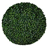 3rd Street Inn Boxwood Topiary Ball - 15'' Artificial Topiary Plant - Wedding Decor - Indoor/Outdoor Artificial Plant Ball - Topiary Tree Substitute (2, Boxwood)