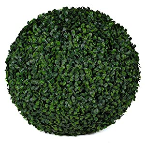 3rd Street Inn Boxwood Topiary Ball – 15″ Artificial Topiary Plant – Wedding Decor – Indoor/Outdoor Artificial Plant Ball – Topiary Tree Substitute (1, Boxwood)