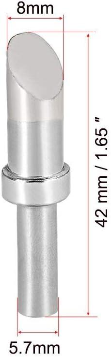 Soldering Iron Tips 8mm Oxygen-free Copper Replacement Tip Welding Tip Soldering Equipment for 8C Silver Welding 2 pcs