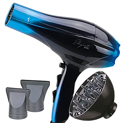 Secador de Pelo Profesional Ligero Potente Elegant Iónico 2000W Azul (Blue) con Difusor -