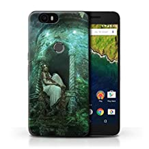 Official Elena Dudina Phone Case / Cover for Huawei Nexus 6P / Golden Hair Design / Fairy Tale Character Collection