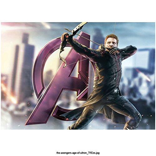 Avengers: Age of Ultron 8x10 Photo Hawkeye Taking Aim w/Bow & Arrow Next to Avengers Symbol kn